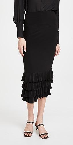 Norma Kamali - Ruffle Tube Skirt