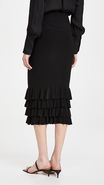 Norma Kamali Ruffle Tube Skirt