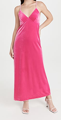 Norma Kamali - Velour Slip Dress