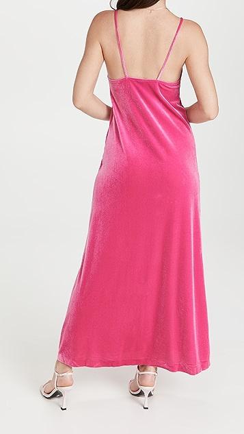 Norma Kamali Velour Slip Dress