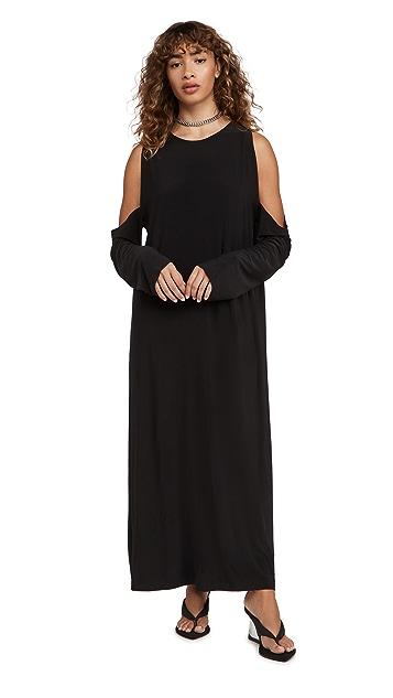 Norma Kamali Open Shoulder Crew Dress
