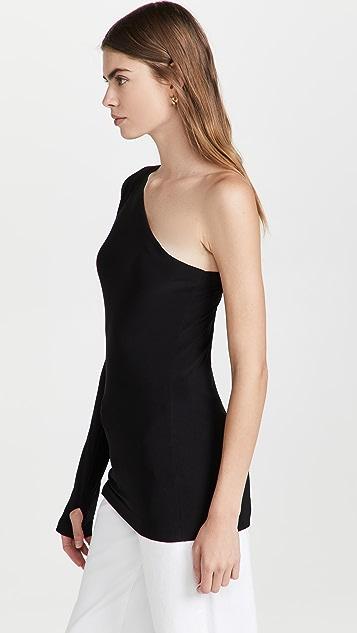 Norma Kamali One Shoulder One Sleeve Top