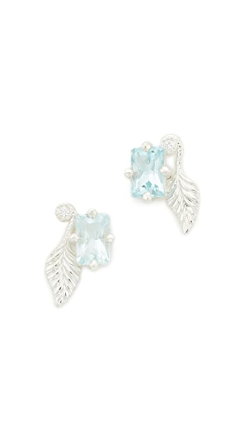 Nora Kogan Rose Leaf Earrings