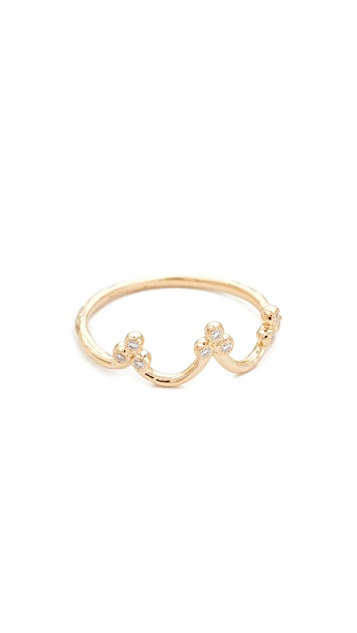 Nora Kogan 18k Gold Princess Crown Ring