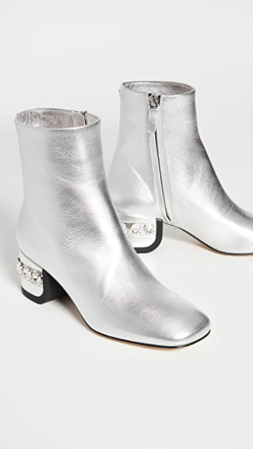 Nicholas Kirkwood 55mm JJ 水晶装饰踝靴