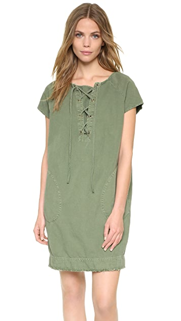f1632ff527060 Nili Lotan Lace Up Short Sleeve Dress   SHOPBOP