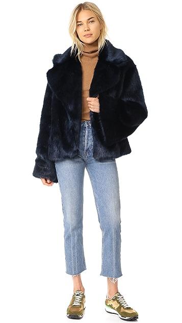 Nili Lotan Sedella Faux Fur Coat