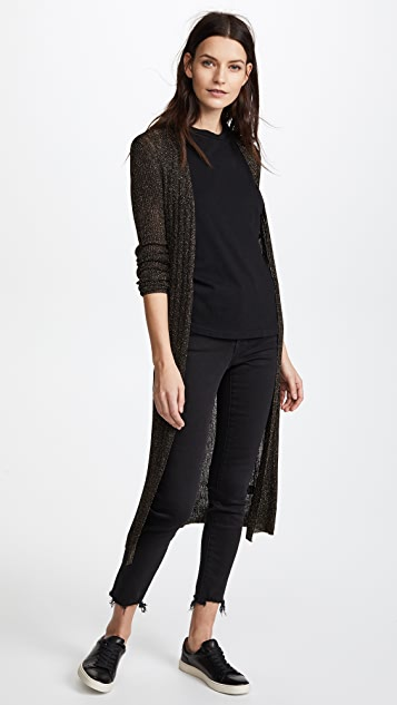Nili Lotan Lasalle Cardigan - Black and Gold