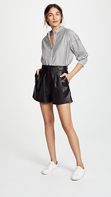 Nili Lotan Roxana Leather Shorts