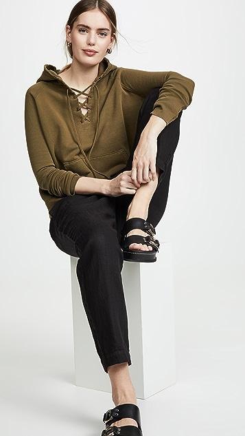 Nili Lotan Толстовка с капюшоном Fletcher на шнуровке