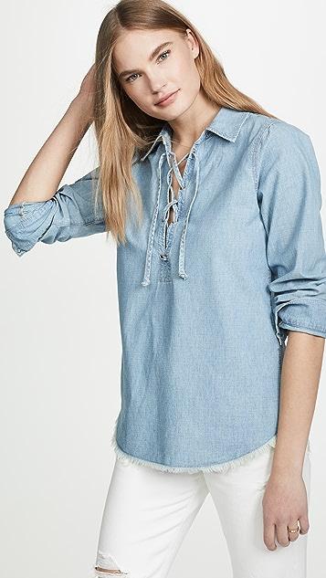 Nili Lotan Mallory Shirt - Sky Blue