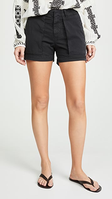 Nili Lotan Utility Shorts - Washed Black