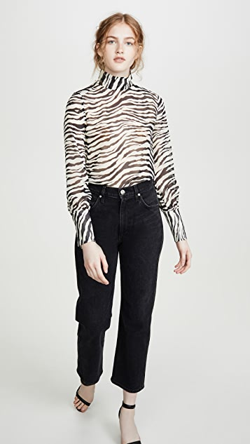 Nili Lotan Mock Neck Top