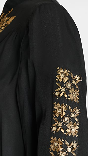 Nili Lotan Karina Palestinian Embroidered Top