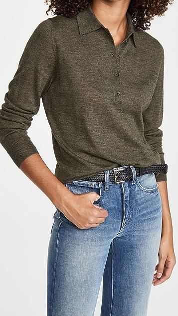Nili Lotan Cashmere Polo Sweater