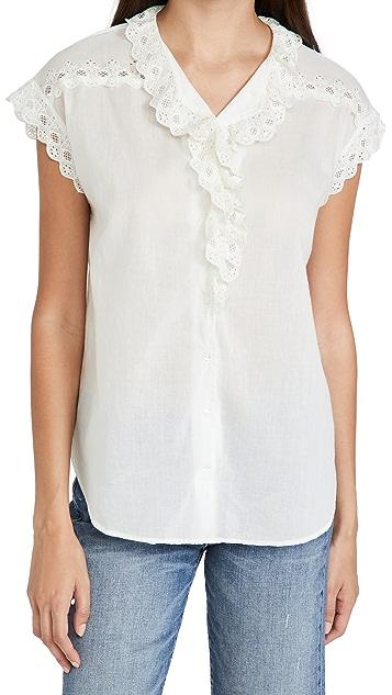 Nili Lotan Leanne Lace Shirt