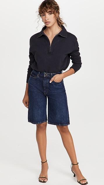 Nili Lotan Bentley Quarter Zip Sweatshirt