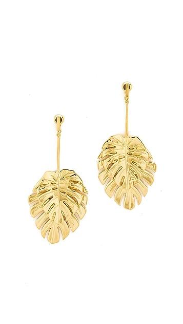 Noir Jewelry Leaf Earrings