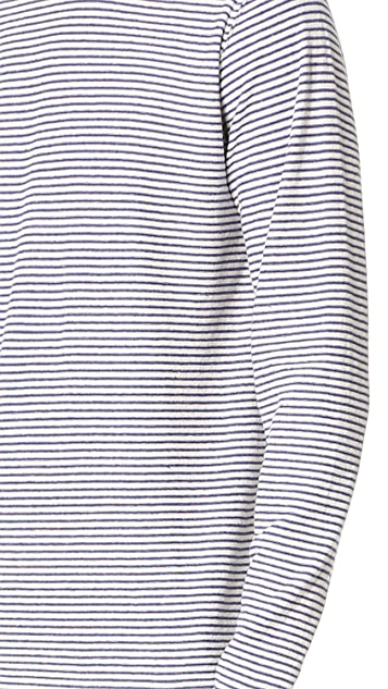 Norse Projects Niels Cotton Linen Striped Long Sleeve Tee