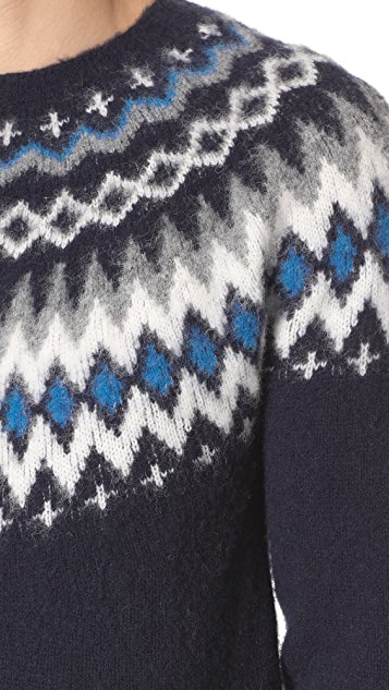 Norse Projects Birnir Fairisle Sweater | EAST DANE Use Code EDNC18 ...