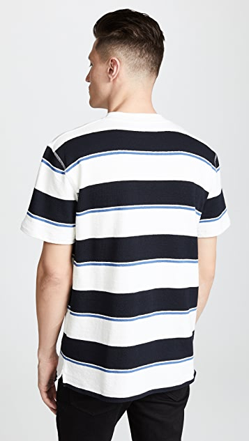 Norse Projects Johannes Textured Stripe Tee