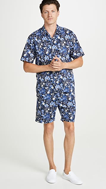 Norse Projects Luther Straight Liberty Print Shorts
