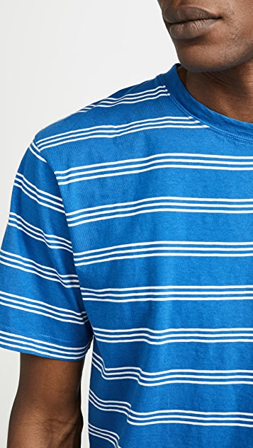 Norse Projects Johannes Cotton Linen Striped Tee