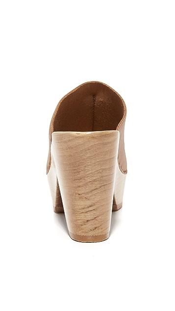 No.6 Platform Front Seam Slide Sandals
