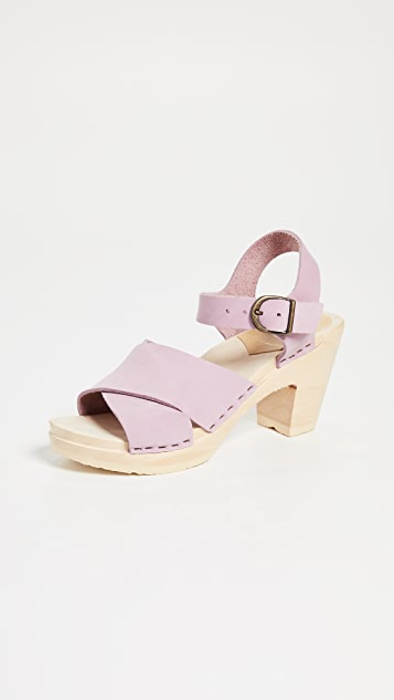 No.6 Coco Sandals with Crisscross Straps