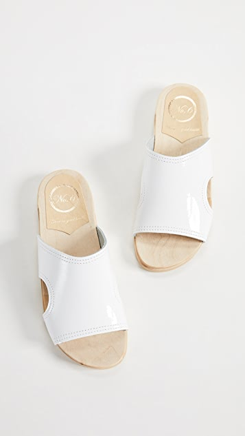 No.6 Alexis Cutout Flat Slides