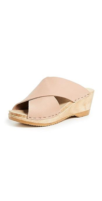 No.6 Frida Wedge Clogs - Pink Sand