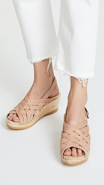 No.6 Catskill Braided Slingbacks