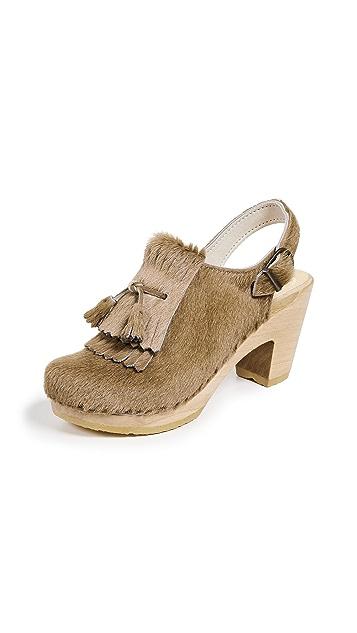 No.6 Keats Kiltie High Heel Clogs