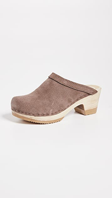 No.6 Old School Mid Heel Clog