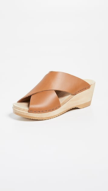 Frida Mid Wedge Clogs by No.6
