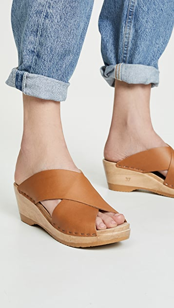 No.6 Frida Mid Wedge Clogs