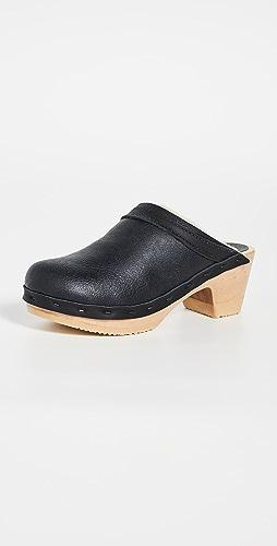 No.6 - Dakota Shearling Mid Heel Clogs