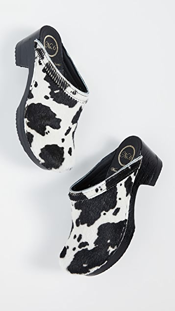 No.6 Old School Mid Heel Clogs