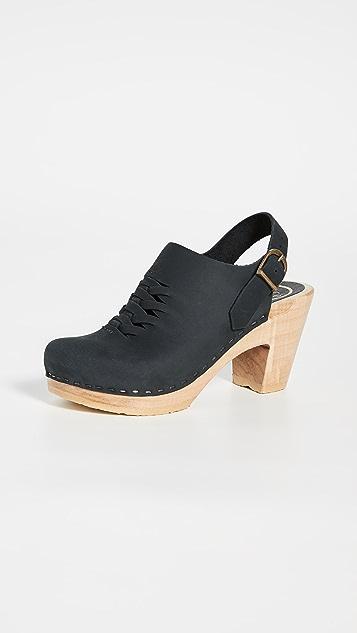 No.6 Aimara Woven High Heel Clogs