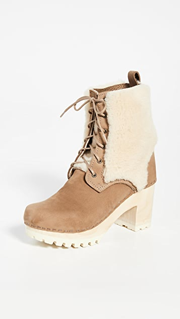 No.6 Audubon High Tread Lace Up Shearling Boots