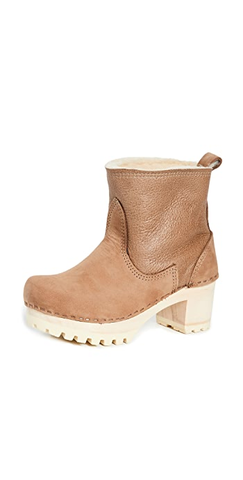 No.6 Pull On Shearling Boots - Honey Aviator/White Base