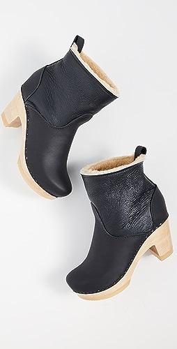 No.6 - 连毛羊皮松紧高筒靴