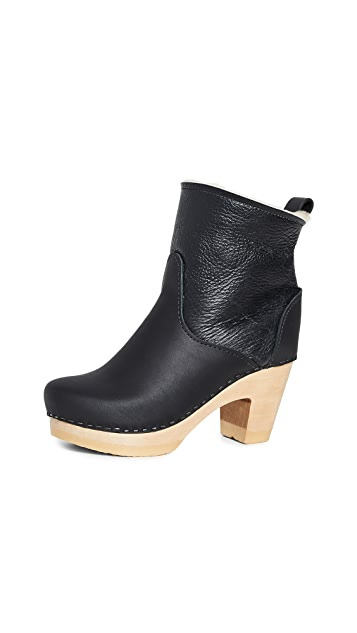 No.6 Pull On Shearling High Heel Boots