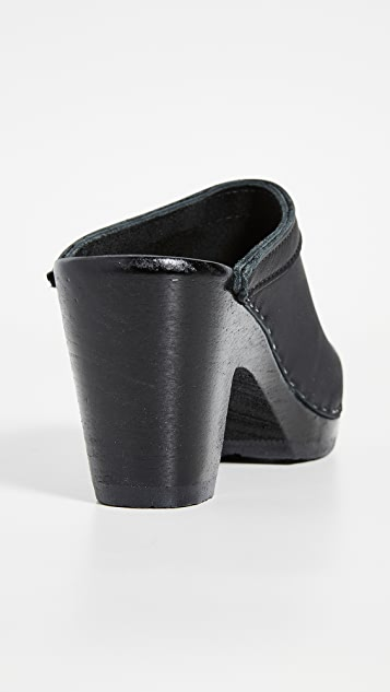 No.6 Old School High Heel Clogs