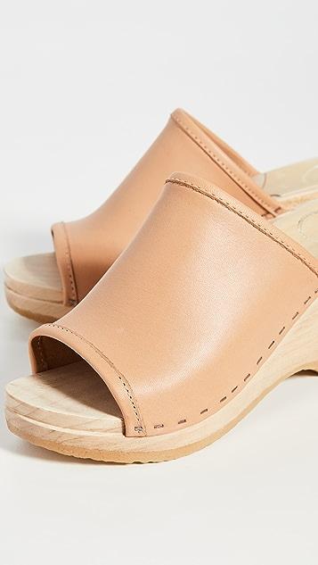 No.6 Daria 坡跟木底鞋
