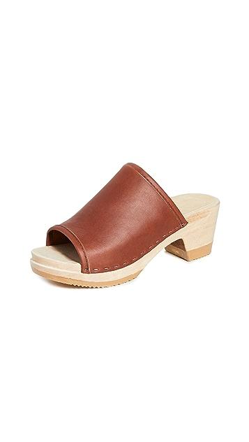 No.6 Daria Mid Heel Clogs