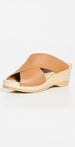 No.6 - Frida 中号坡跟木底鞋