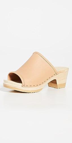 No.6 - Daria Mid Heel Clogs