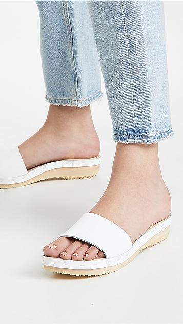 No.6 Outline Sandals on Flat Base