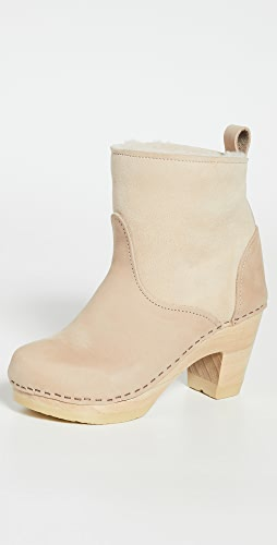 No.6 - Pull On Shearling High Heel Booties